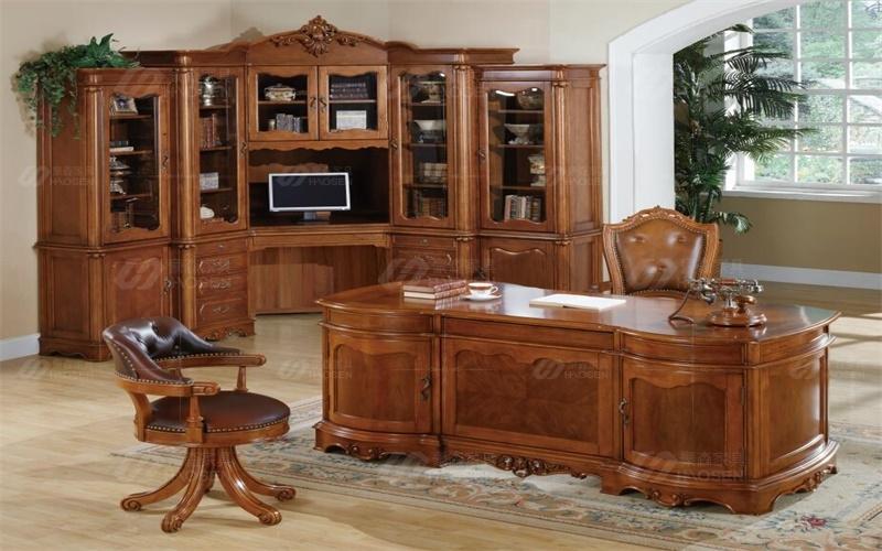 美式书柜有什么特点?高档别墅美式书柜特点介绍