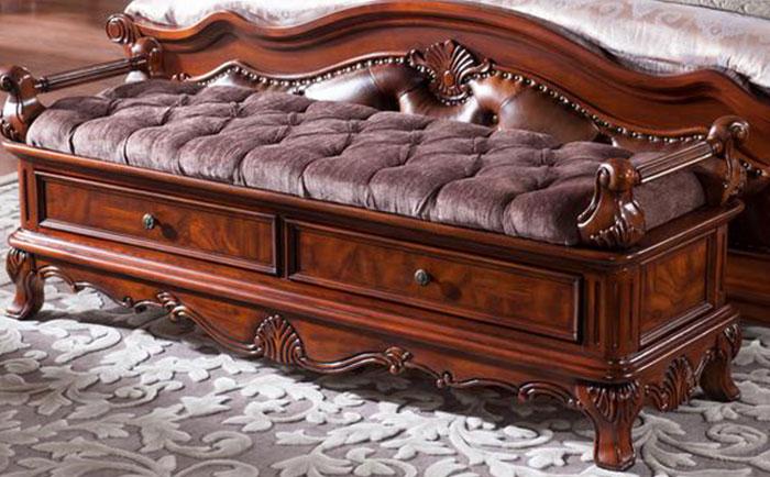 高档别墅美式床尾凳如何选购?高档别墅床尾凳选购技巧