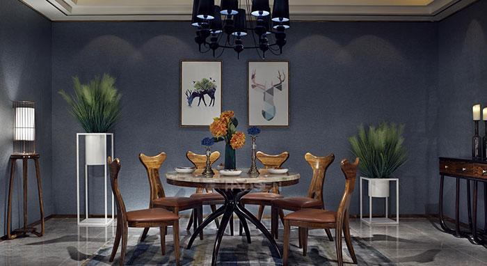 教你乌金木家具的墙纸如何搭配,使家里充满非洲贵族气质