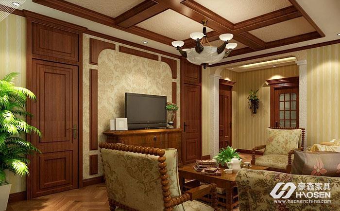 美式客厅的墙面颜色装修——墙面颜色搭配