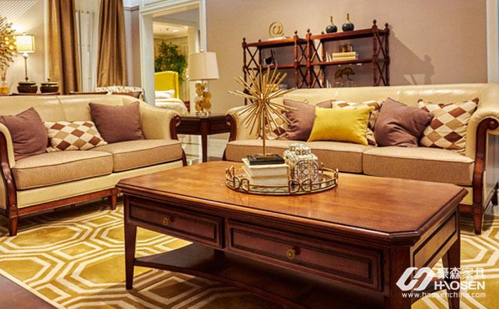 樱桃木沙发选购要注意啥?美式客厅樱桃木沙发的选购