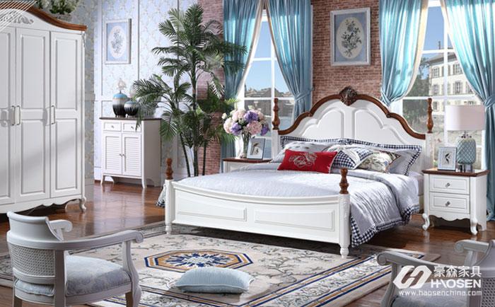 卧室床应该怎么摆?简欧实木床的摆放风水
