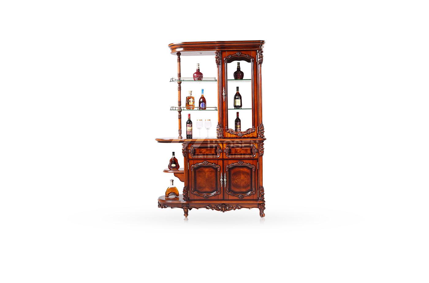 美式古典高档实木隔断储存收纳间厅柜