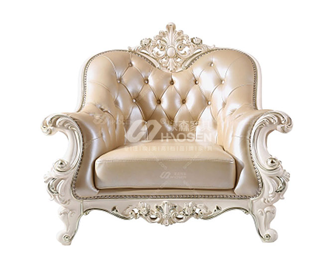 美式古典高档皮质客厅沙发
