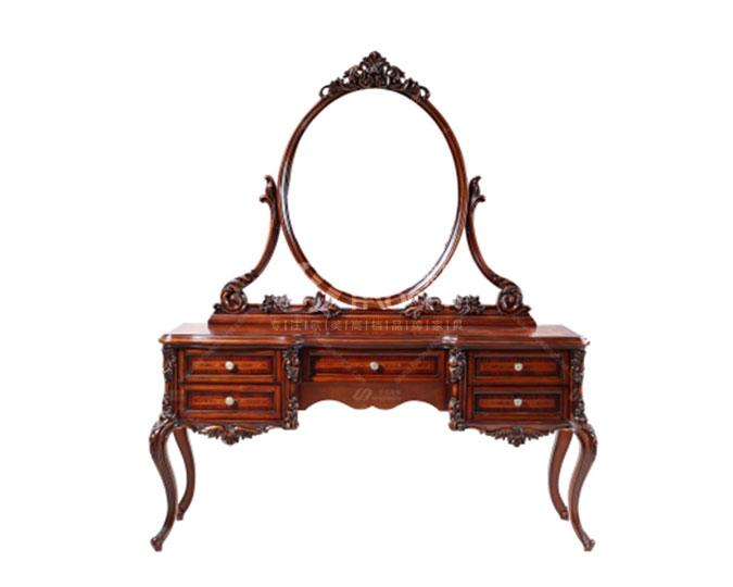 古典美式实木卧室梳妆台