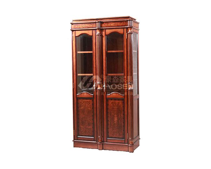 高档美式古典实木组合卧室书柜