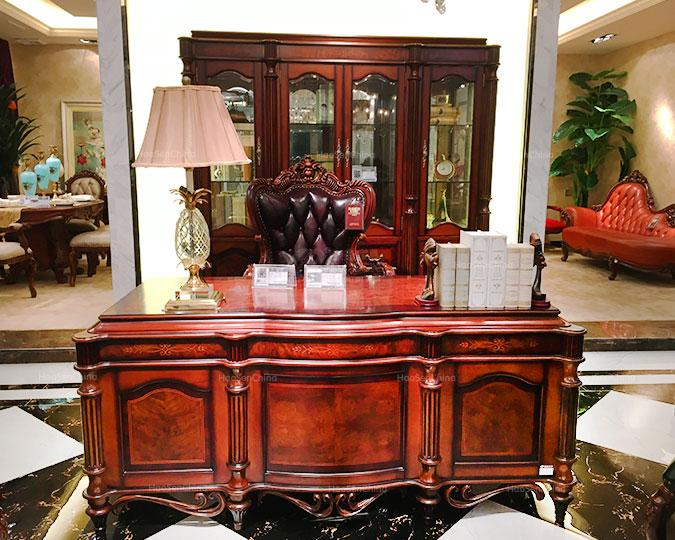 美式古典实木别墅家具办公写字书台