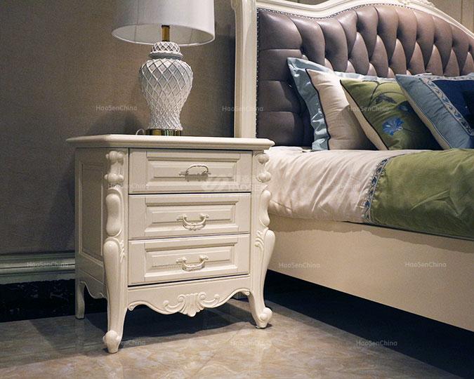 环保简约储物柜美式纯实木床头柜