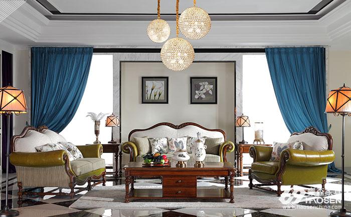 欧式简约风格沙发搭配出高贵、优雅的简约氛围