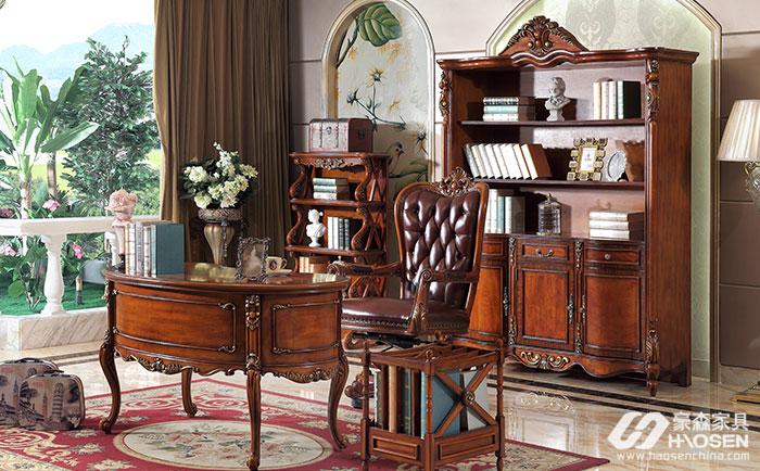 美式书房书桌要如何摆放?美式书房家具摆放技巧
