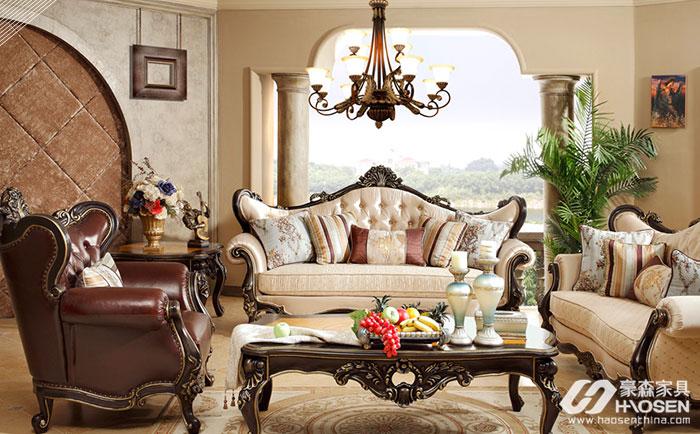 美式客厅沙发如何放置?美式别墅客厅沙发摆放技巧