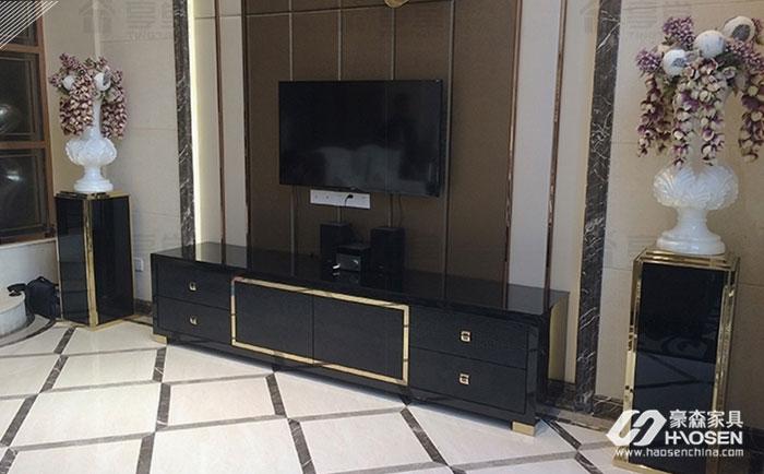 现代轻奢家居中电视柜搭配技巧有哪些?