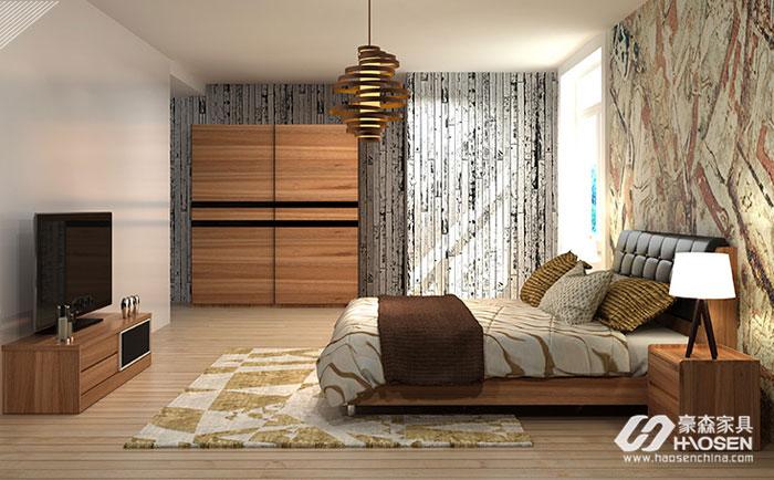 小户型卧室床和衣柜组合设计应该如何搭配?