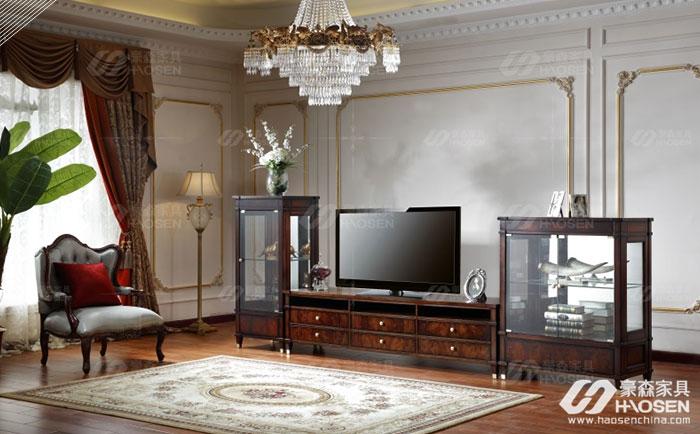 大户型电视柜尺寸多少合适?大户型美式电视柜尺寸介绍