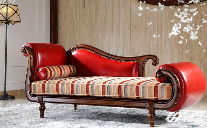 欧式贵妃椅要如何摆放?欧式实木贵妃椅摆放技巧