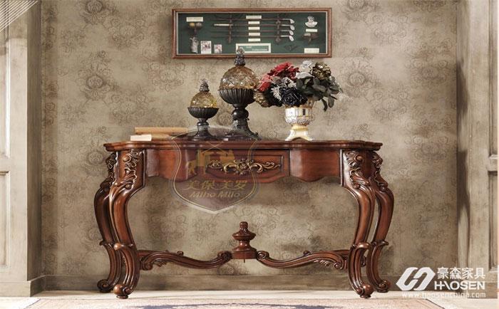 选购婚房美式玄关桌的不同材质来打造你的玄关
