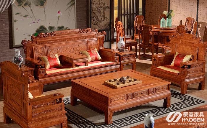 如何选购别墅户型红木沙发?别墅红木沙发选购技巧