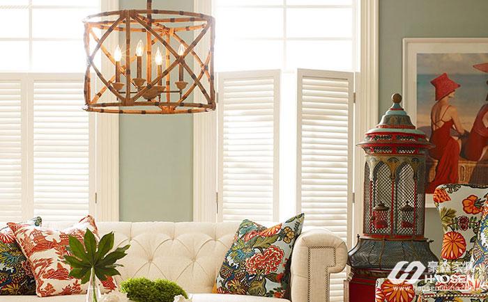 美式家具与古典风格灯的搭配图