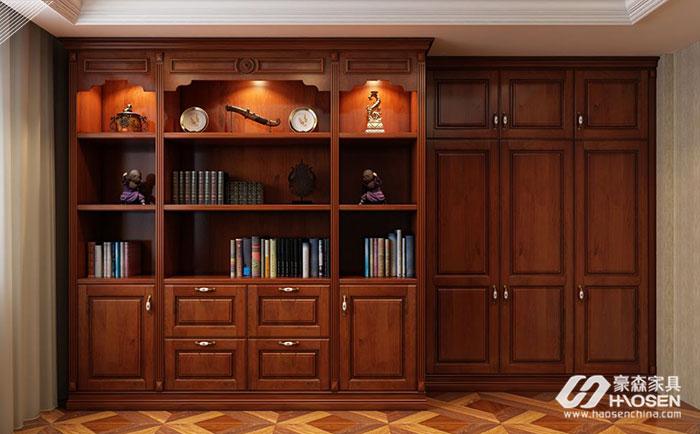 简约美式家具书柜材质都有哪些?简约美式书柜材质介绍