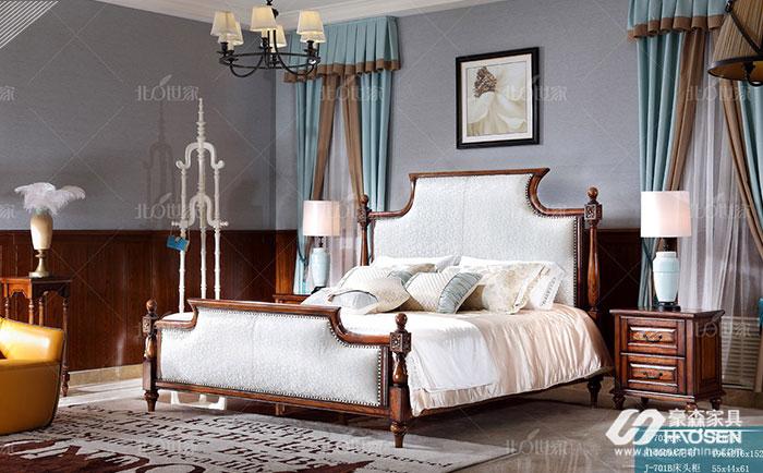 新美式实木床头柜如何选购?新美式实木家具床头柜的选购