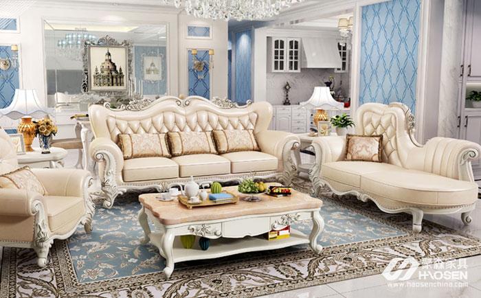 实木欧式家具沙发图片,实木欧式沙发的搭配技巧赏析