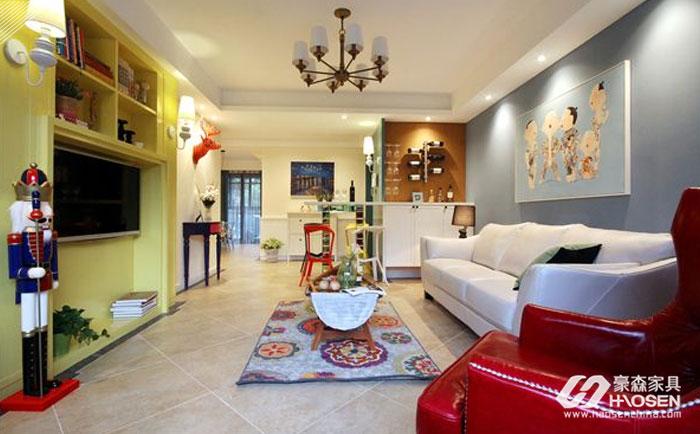欧式现代风格家具软装色彩搭配