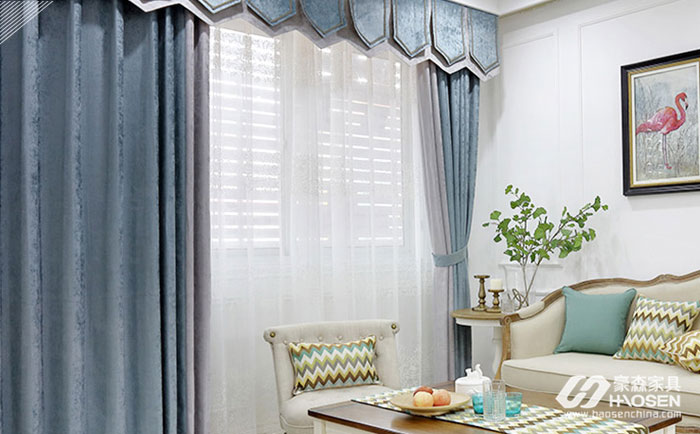 搭配白色家具窗帘的配色选择