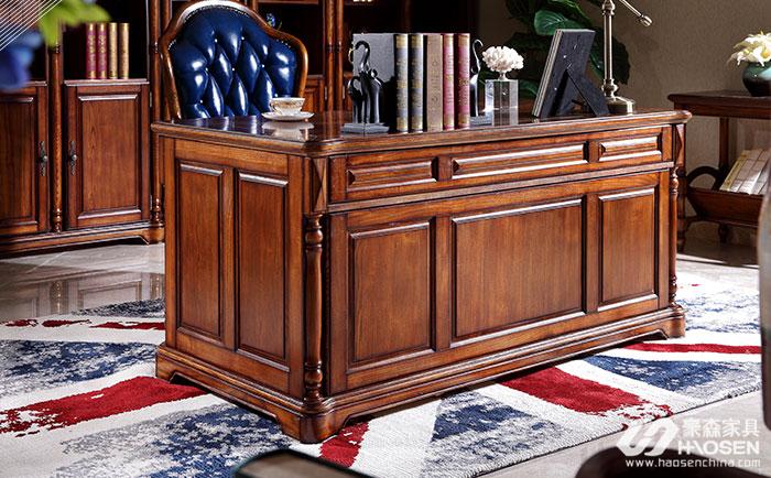 北欧世家简欧全实木书桌